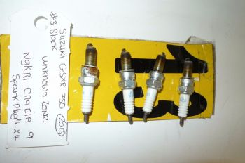 NGK IR CR0EIA 9 SPARK PLUGS x 4 -(UNKNOWN ZONE)(WEB-STOCK)(A=SK) BIKE BREAKERS